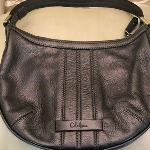 COLE HAAN Shoulder BAG gray pre-owned
